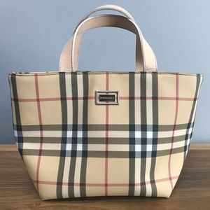 Burberry Nova Check Small Tote Bag Purse